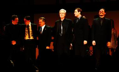 Frankie Valli & Bob Gaudio with the Jersey Boys cast