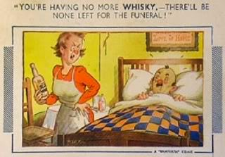 Saucy Postcard Whisky